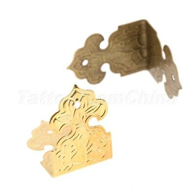 Antique Jewelry Gift Box Wooden Table Desk Corner Edge Protector Hardware 12pcs