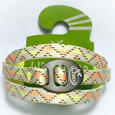 New! Chaco Unisex Wrist Wrap York Citrus Bracelet Orange Neon Yellow Cream