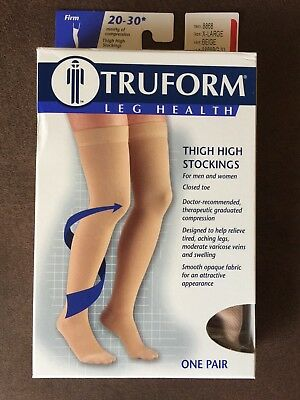 Truform 8868 Thigh High Compression Stockings 20-30 mmhg Men/Woman