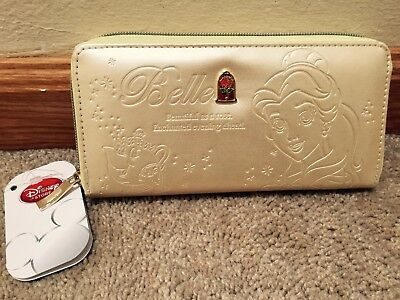 NEW Disney Store Japan Beauty and the Beast Belle Faux Leather Wallet