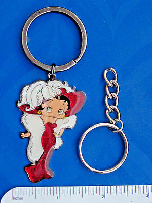 "BETTY BOOP  ""Mae West"" style - keychain , key chain , GLITTER - GIFT BOXED"