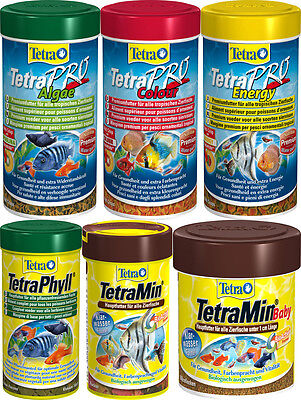 TetraMin Tetra Rubin tropical fish food float staple flakes canister feeder
