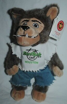 2003 Hard Rock Cafe Houston werewolf plush, RARE numbered 3 of 72, with tags
