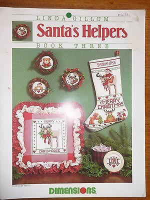 Cross Stitch Pattern Leaflet #114 -Dimensions-Santa's Helpers-Christmas Stocking