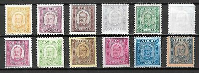 Funchal Sc#1-12 MH King Carlos Issue, 1892-3