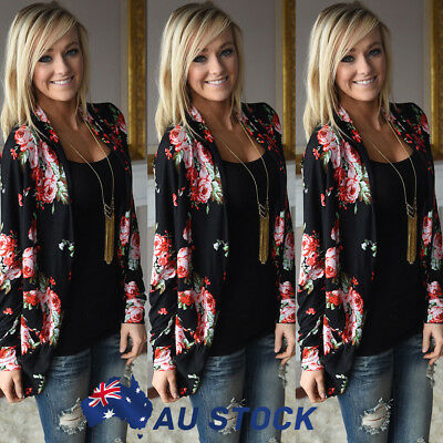 Fashion Floral Bomber Jacket Women Tops Long Sleeve Ladies Jumpers Cardigan Coat