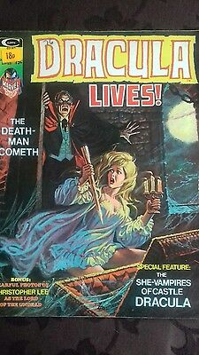 Dracula Lives no. 7 (curtis) - Issue #7 Vintage Monster Magazine July74