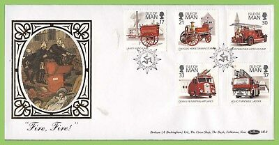 Isle of Man 1991 Fire Vehicles/Service set on Benham silk First Day Cover