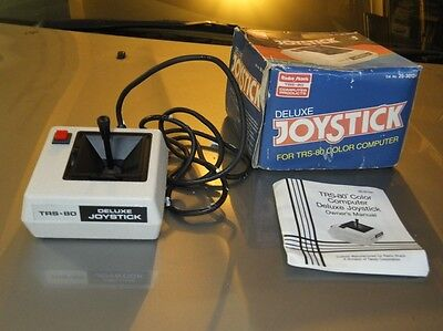 Boxed TRS-80 Deluxe Joystick for the Coco Color Computer 1 2 3