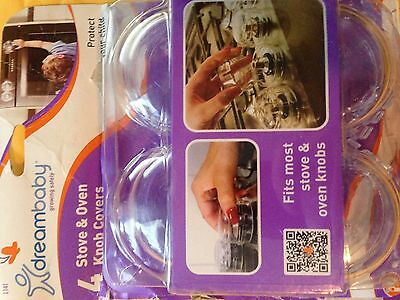 DreamBaby Stove Oven Knob Covers 4 PK - Child Proof Safety Appliance Covers