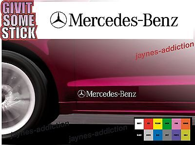 For Mercedes-Benz - 2 x DOOR - SIDE SKIRT -  CAR DECAL STICKERS - AMG 295mm long