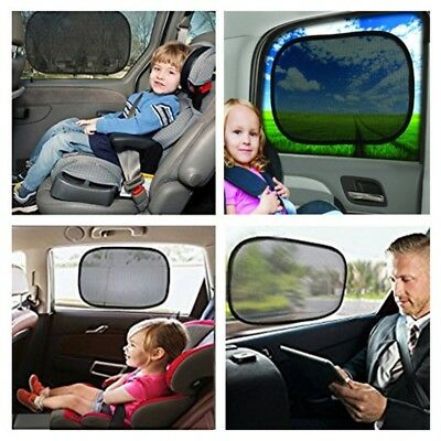New Car Side Window Shade Cling Sunshade UV Protector Baby Kids Travel 2 Pack