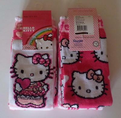 Hello Kitty Girls Socks 2 Pair Pack Various Sizes Free UK Postage