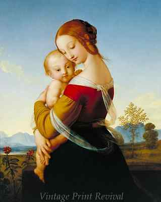 Madonna and Child by William Dyce - Virgin Mary Baby Jesus Love 8x10 Print 1177