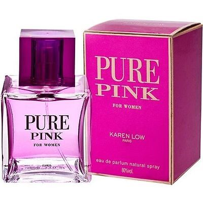 PURE PINK by KAREN LOW 3.4 OZ EDP spray *PERFUME for WOMEN * NEW in SEALED box