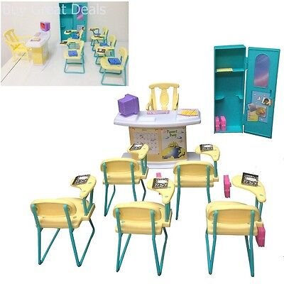 Small Size Dollhouse Furniture - Classroom Play Set for Girls Dollls