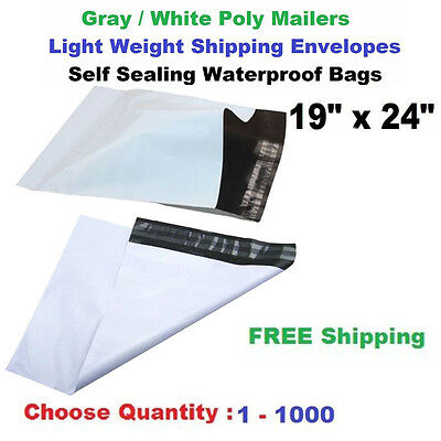 """19""""x 24"""" Poly Mailers Shipping Envelopes Self Sealing Plastic Large Mailing Bags"""