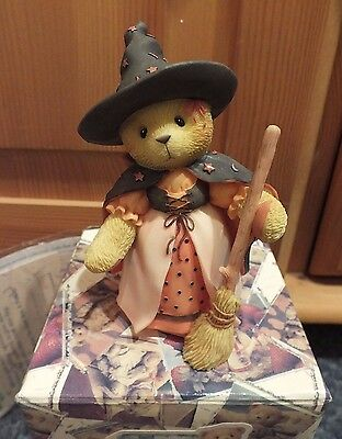 Cherished Teddies HAZEL Halloween Witch Figurine 534129 EUC Box and Papers