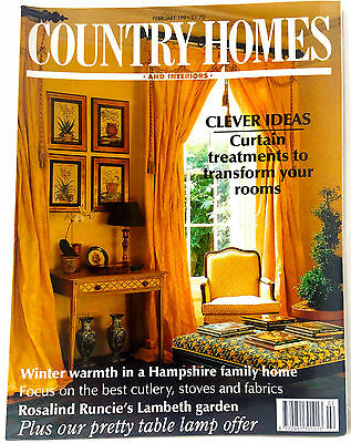 Vintage COUNTRY HOMES & INTERIORS MAGAZINE February 1991 Adverts Decoration VGC