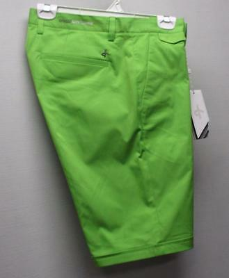 NWT Mens Size 34 Cross Regular Fit polyester Stretch Granny Green golf shorts
