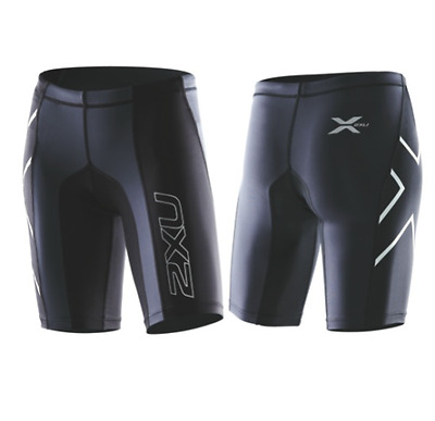 2XU - Women's Elite Compression Short (WA1935b-BLK/STL) Size: XL - 50% Off