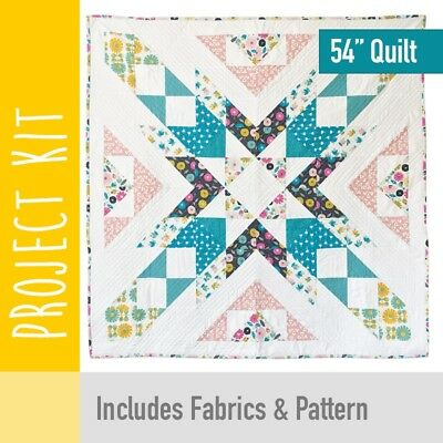 "Patchwork Kit Confetti Burst Baby Quilt Kit - 54"" - Fabric and Pattern"