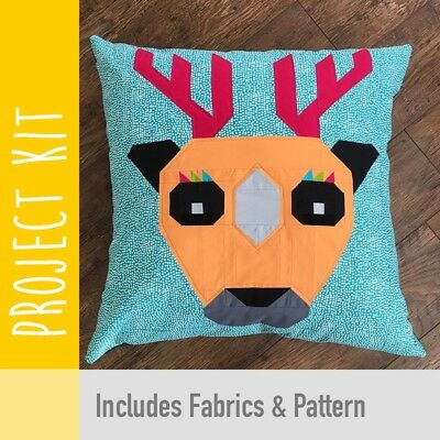 Patchwork Kit Epic Deer Cushion Kit - Fabric and Pattern