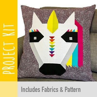 Patchwork Kit Rainbow Unicorn Cushion Kit - Fabric and Pattern