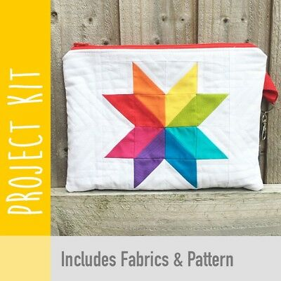 Patchwork Kit Rainbow Star Purse Kit - Fabric and Pattern