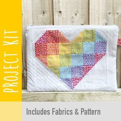Patchwork Kit Rainbow Heart Purse Kit - Fabric and Pattern