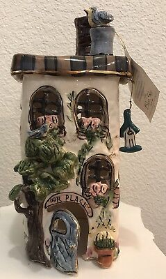New Clayworks Ceramic House Home Decor  By Heather Goldminc Used With Tea Lights