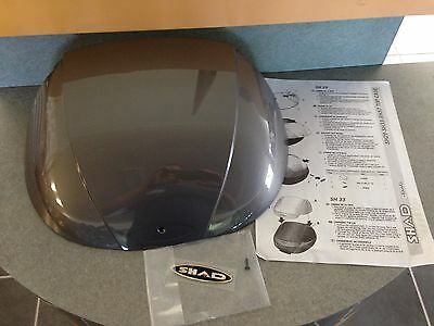 SHAD GLOSS BLACK COLOR PLATE INSERT FOR SH29 TOP CASE  REAR LUGGAGE BOX D1B29E21