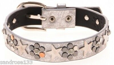 TRENDY BOOT STRAPS for Boots RHINESTONE RIVETS SILVER WHITE 50