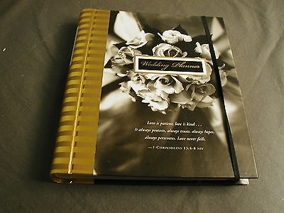 NEW PERSONAL WEDDING PLANNER BOOK BY SARA MILLER - BLACK, GREY & GOLD - mh