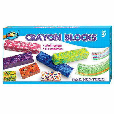 7 x MULTI-COLOUR KIDS CRAYONS CRAYON BLOCKS - NON-TOXIC 3+ YEARS