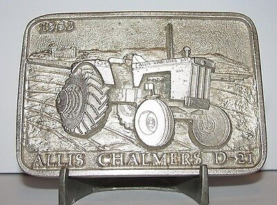 Allis Chalmers AC Model D-21 Tractor Belt Buckle Limited Edition 003/250 Silver