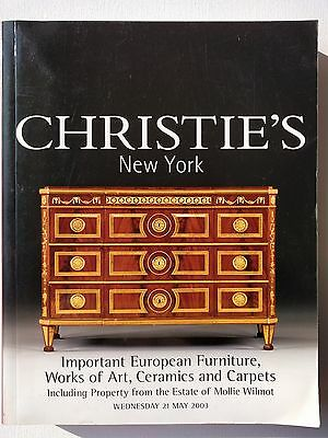Christie's Auction Catalog May 2003 European Furniture and Works of Art