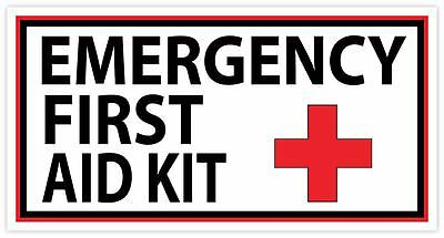 Emergency First AID KIT Vinyl Sticker Decal Sign SIZES  Health Safety Cross