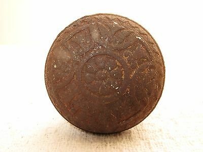 Antique Victorian Cast Iron Ornate Celtic Cross Doorknob