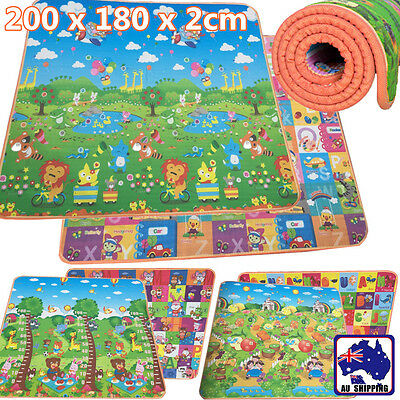 20mm 2mx1.8m Thick Baby Play Mat Floor Rug Picnic Cushion Crawling Kid OCUSH32