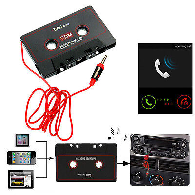 1X Audio AUX Car Cassette Tape Adapter Converter 3.5mm for iPhone MP3 CD Android