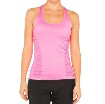 Special LORNA JANE SEAMLESS SUPPORT Yoga Singlet TANK W/ Removable Padding M L