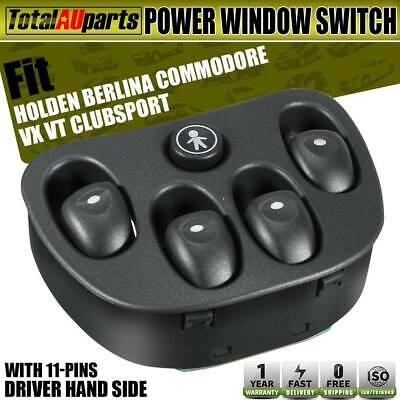 Power Master Main Window Switch for Holden Commodore VT VX WH Statesman 92047005