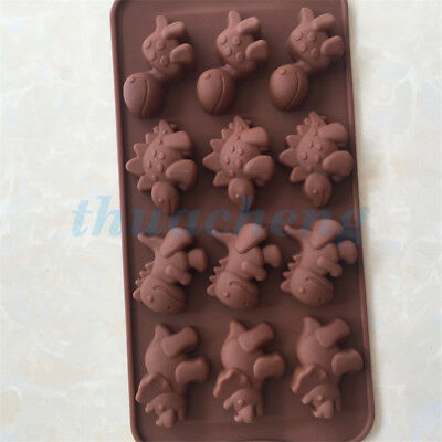 Dinosaur Silicone Cake Decorating Moulds Candy Cookies Chocolate Baking Mold