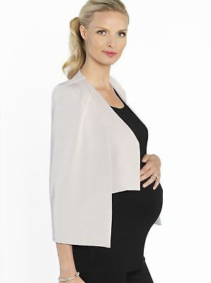 Maternity Cape Blazer in Trendy Beige