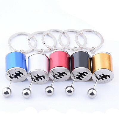 Creative Car 6-Speed Gear Shifter Model Metal Key Chain Ring Keychain Quality