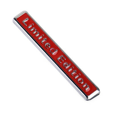 3D Universal Red Metal Limited Edition Logo Car Emblem Badge Sticker Decal Auto