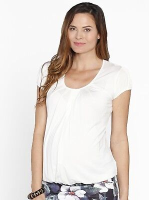 Breastfeeding Hidden Zipper Nursing Top - Blue/ Black/ White