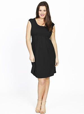 Lucy Maternity Best Sellers - Cap Sleeve Dress in Black