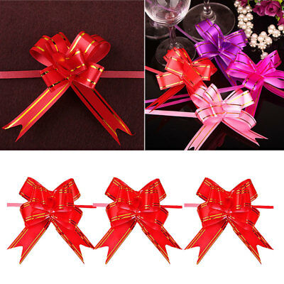 50pc Small Pull Bows, Butterfly Ribbon Bow, Wedding, Party, Xmas, Gift Wrap